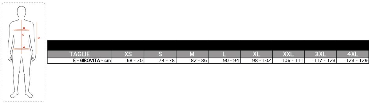 tabella taglie ANPS